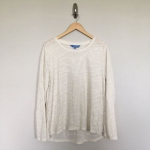 Simply Vera Wang Top Bone White Long Sleeve